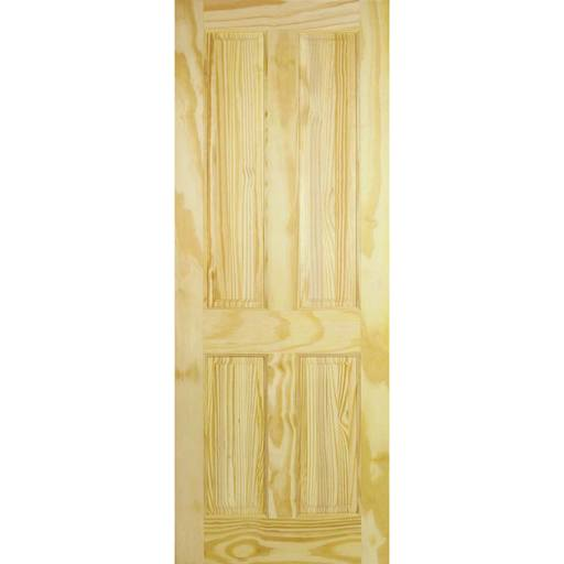4 panel clear pine